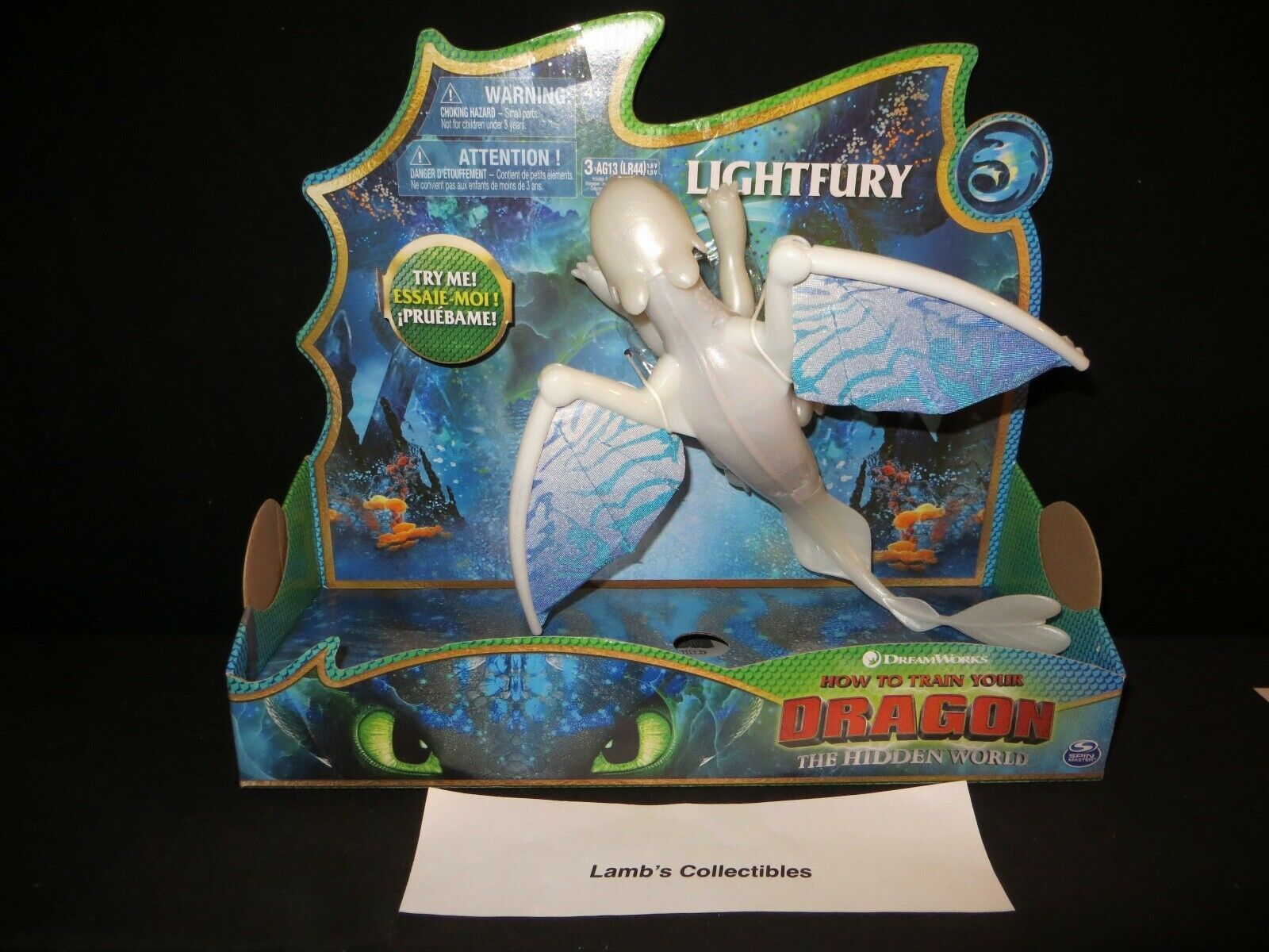 Primary image for DreamWorks How to train your Dragon 3 The Hidden World deluxe dragon light fury