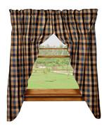 Olivia's Heartland country primitive River Shale plaid PRAIRIE Curtains ... - $62.95