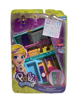 Polly Pocket Micro Mini Middle School Compact With 2 Micro Dolls W7 - $25.73