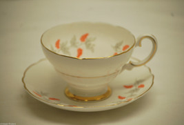 Old Vintage Crown Staffordshire CRS2 Pattern Footed Cup & Saucer Set England - $14.84