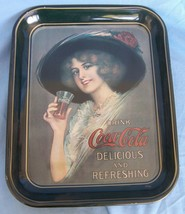 Coca Cola Coke Metal Tray Hamilton King Girl 1912 Replica 1972 Commemora... - $14.45