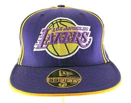 """Los Angeles Lakers Purple/Yellow Baseball Cap Fitted 7 1/8"""" - €21,48 EUR"""