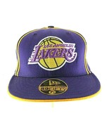 """Los Angeles Lakers Purple/Yellow Baseball Cap Fitted 7 1/8"""" - £19.32 GBP"""