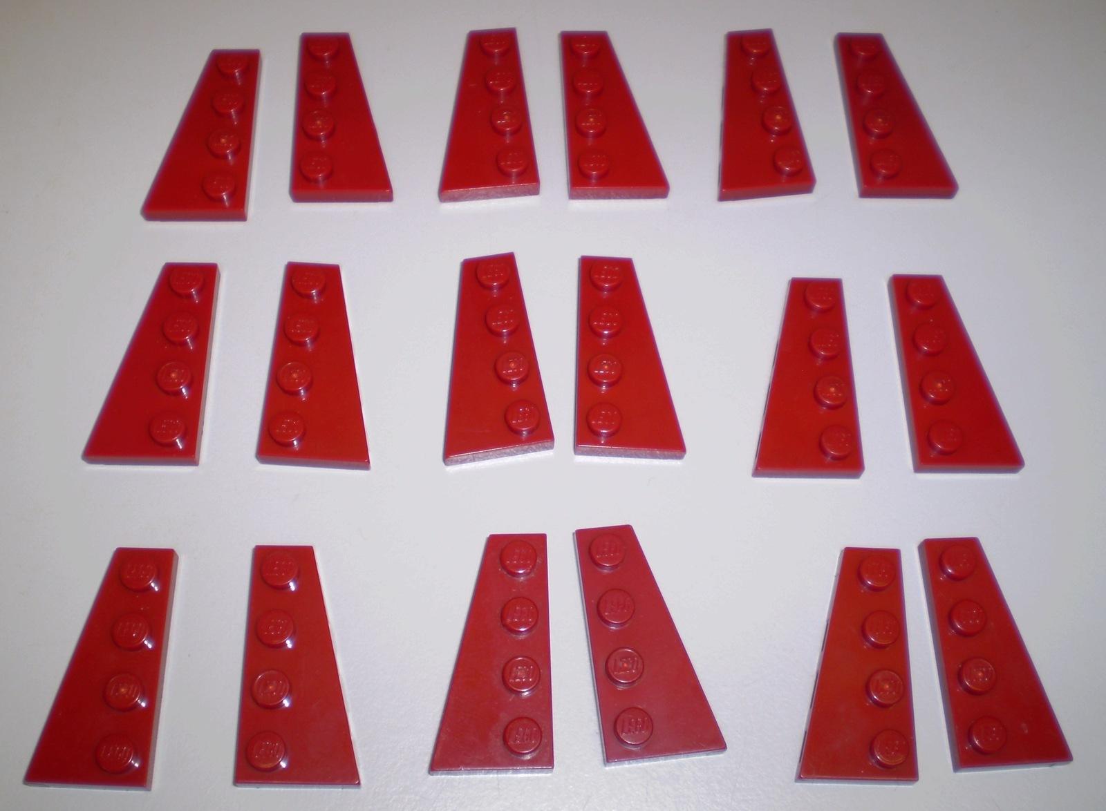 8x RED Genuine LEGO Slope 18° 4x2 Slopes
