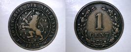 1878 Netherlands 1 Cent World Coin - $6.99
