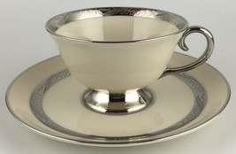 Flintridge BRIDAL WREATH cup / saucer ( 5 available ) (SKU EC 128) FREE ... - $22.00