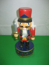 Music Box Toy Soldier Nutcracker Christmas Tune is Silent Night - $11.26