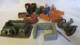 Plastic Toy Battleground Accessory Mixed Lot Including Gatling Gun - $9.99