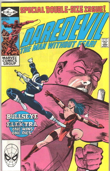Daredevil Comic Book #181 Death Elektra Marvel Comics 1982 NEAR MINT NEW UNREAD