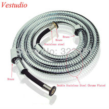 Hotel Spa Extra Long Stainless Steel Flexible Tube Stretchable Shower Ho... - $15.83