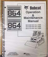 Bobcat 864 Skid Steer Operation & Maintenance Manual Operator/Owner's # ... - $23.00+