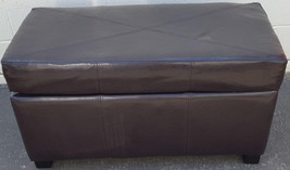 Smaller Size Storage Bench - Faux Leather - Chocolate Brown - VGC - Hing... - £127.94 GBP