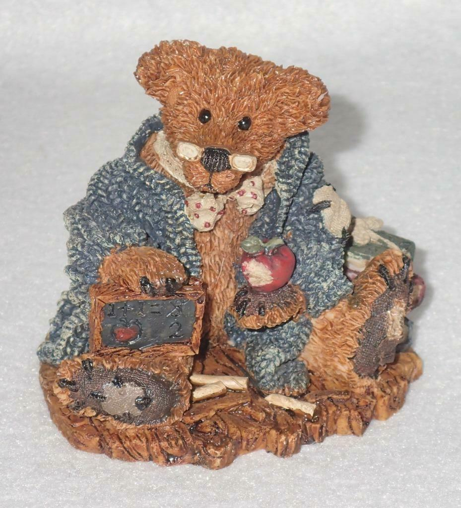 Boyd Bearstone Resin Bears 1994 Wilson The Perfesser Figurine #2222 13E NEW