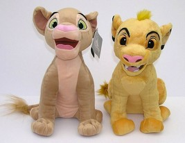 "New Disney Parks Lion King SIMBA & NALA Plush Cubs 14"" NWT - $39.59"