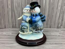 Bradford Exchange Thomas Kinkade Musical Snowmen Figurine Snow Happy Tog... - $99.99