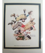 """Norman Rockwell """"FIRST DOWN"""" Football Pile-up 8x10 Print Picture Wall Art - $14.99"""