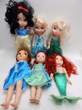 "Disney Doll ARIEL 14"" 2 Animators Belle Snow White Frozen Elsa Anna LOT - $49.49"