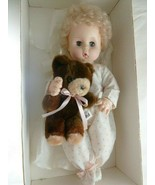 Vintage Effanbee Dy Dee Porcelain Baby Doll Blonde w Bottle and Teddy Be... - $69.29