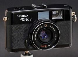 Yashica ME 1 All-Black 35mm Rangefinder Type Camera w 38mm f/2.8 Prime Y... - $69.00