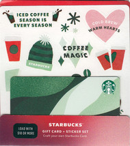 Starbucks 2020 Christmas Stickers Recyclable Collectible Gift Card New No Value - $4.99
