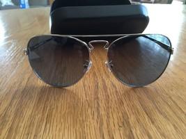 New COACH Women's New York Pilot Silver Sunglasses and Blue Lenses---L1614 - $89.99