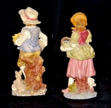 Figurines (Boy and Girl) AA18 - 1106 Vintage Pair image 2