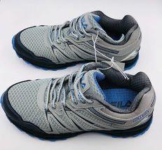 NEW Fila NORTHAMPTON Grey Light Blue Trail Sneakers New Womens Shoes image 3