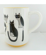 "Hallmark Crazy Cat Lady Coffee Mug Cup White-Black-Yellow  5"" - $17.81"