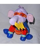 Disney Super Hero Lumpy Heffalump Purple Elephant Plush Stuffed Animal S... - $19.77