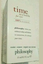 Philosophy Time in a Bottle Renew/ Age Defying Serum For Eyes .5 oz LOT of 3 - $56.97