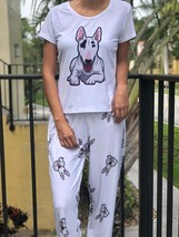 Dog Bull terrier pajama set with pants for women - $35.00