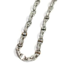 Bracelet White Gold 18K 750, Jersey Marina, Marinara, Crosspiece Criss Crossed image 4