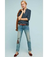 New Anthropologie Pilcro Mid-Rise Slim Boyfriend Jeans  EMBROIDERED Size 27 - $75.24