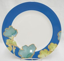 "Lenox Floral Fusion 11.5"" Dinner Chop Plate by Stephanie Ryan Blue Rim New - $13.85"