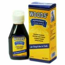 2 X WOODS' PEPPERMINT COUGH SYRUP ADULT 100ml Relief Cough & Sore Throat... - $25.90