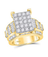 10kt Yellow Gold Womens Round Diamond Bridal Wedding Engagement Ring 3.0... - £2,304.00 GBP