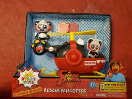 JADA Ryan's World Panda Rescue Helicopter & Action FIGURE Surprise Mystery  - $31.81