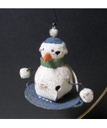 Metal Snowman Jingle Bell Ornament with Metal Hanger - Two (2) Available - $5.99