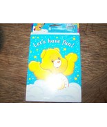 "8 Care Bear Party Invitations & Envelopes Funshine Bear ""Lets's Have Fun... - $9.00"