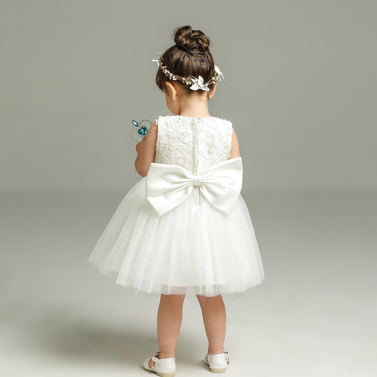 New Body Dress 0-24 Month Strapless White Flower Girl Dress Ball Gowns Short2018 image 3