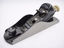 "Sears Craftsman 7"" Block Plane Cast Iron Base Chrome Carbon Steel Cutter... - $27.71"