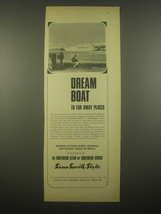 1966 Shaw Savill Line Ad - Dream boat to far away places - $14.99