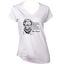 Albert Schweitzer Zitate - New White Cotton Lady Tshirt - $25.75