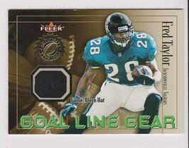 2001 Fleer Fred Taylor Game-used hat card, Jacksonville Jaguars - $1.99