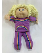 Vtg 1985 Cabbage Patch Kids Doll Yellow Blonde Hair w/Rainbow Jumpsuit #... - $19.79