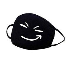 Unisex Black Cotton Face Mouth Mask Reuseable Dustproof Antibacterial Ma... - $178,52 MXN