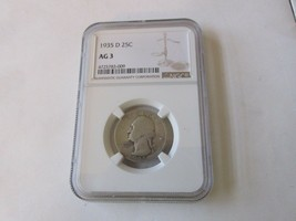 1935 D  Washington. Quarter  AG 3            NGC - $24.75