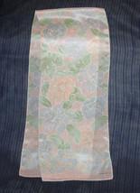 Womens Scarf LIZ CLAIBORNE Pastel Floral Satiny... - $5.46