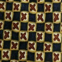 Blue Brown Gold Goulard ZEGNA Silk Tie - $7.99