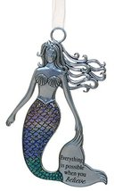 Gnz 3.5 Inch Zinc Mermazing Mermaid Ornament- Everything is possible - $6.21